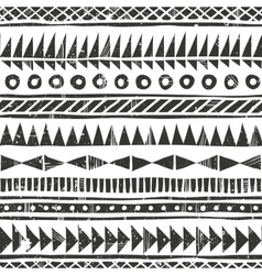 hand drawn tribal pattern Primitive vector image