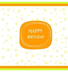 Happy birthday card ribbon bow vector