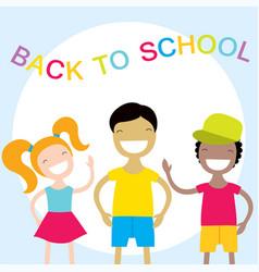 happy kids back to school vector image