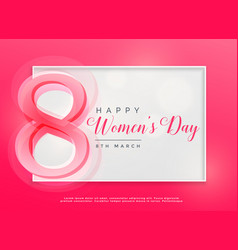 Happy womens day 8th march celebration background vector