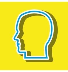 head silhouette isolated icon design vector image