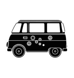 hippie van icon vector image