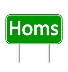 Homs road sign vector