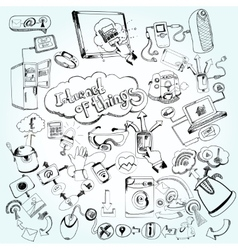 Internet Of Things Doodles vector image