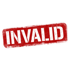 Invalid sign or stamp vector