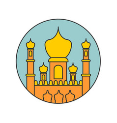 Islamic mosque isolated sign east ornament muslim vector