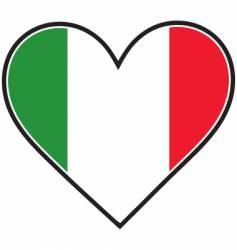 Italy heart flag vector image