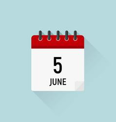 June 5 world environment day calendar icon data vector