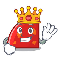 King quadrant mascot cartoon style vector
