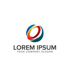 letter e circular logo vector image