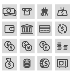 line money icons set vector image