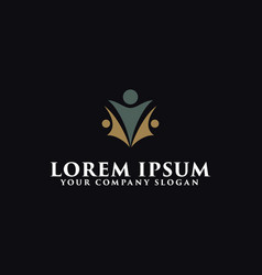 luxury people business logo design concept vector image
