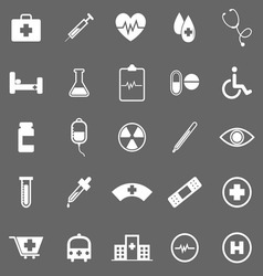 Medical icons on gray background vector image vector image