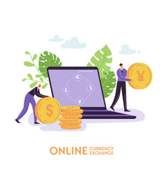 mobile currency exchange service online banking vector image