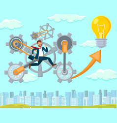 new idea in startup flat vector image