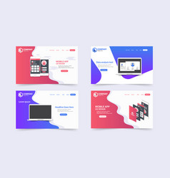new trendy website landing pages theme template vector image