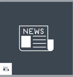 newspaper related glyph icon vector image