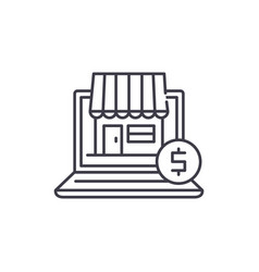 online commerce line icon concept online commerce vector image