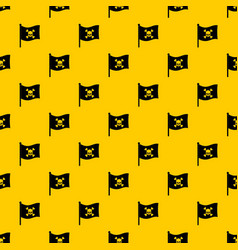 Pirate flag pattern vector