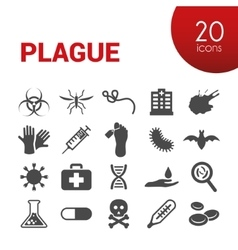Plague icons vector