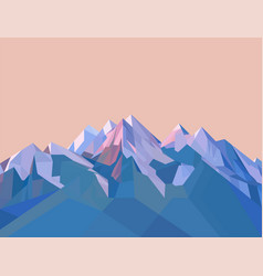 polygonal mountains vector image