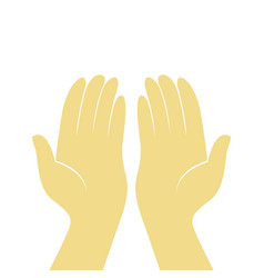 Prayer hands design vector
