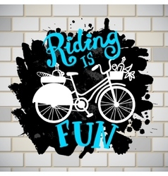 riding like iifestyle vector image