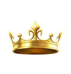 royal crown for king and queen royalty and vector image