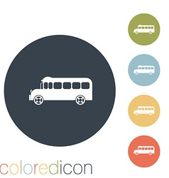 School bus Symbol study Icon transport vector image