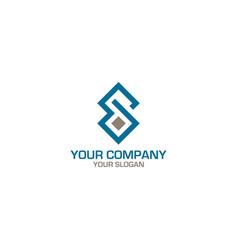 Sd diamond logo design vector