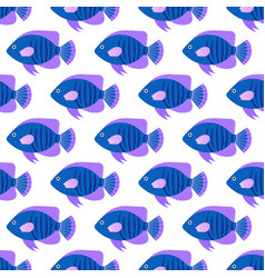 seamless pattern with fish creative design element vector image