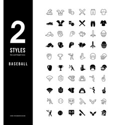 simple line icons baseball vector image