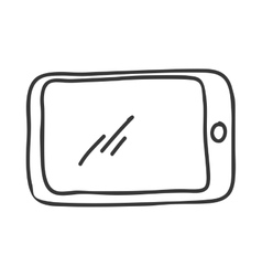 Smartphone icon Sketch design graphic vector image