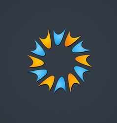 spark circle shape abstract logo vector image