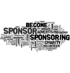 Sponsoring word cloud concept vector