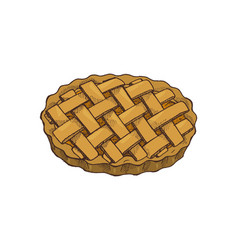 Thanksgiving food holiday baked pie icon vector