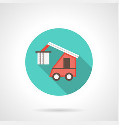 train loader blue round icon vector image
