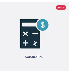 Two color calculating icon from strategy concept vector