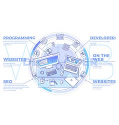 Web development - promotional with vector