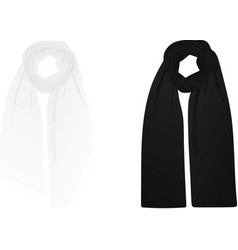 White and black scarf vector