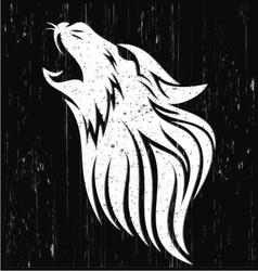 Wolf Head Grunge vector image