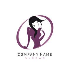 woman logotype vector image