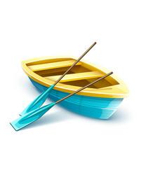 Wooden fisherman boat vector
