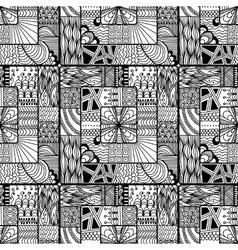 Zentangle seamless pattern doodle mandala vector