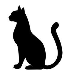 cat silh vector image