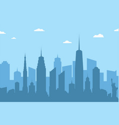 cityscape silhouette background abstract city vector image
