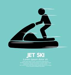 Jet Ski Sport Sign vector image
