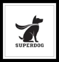 Super Dog Hero Emblem vector image