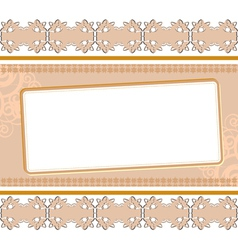 background with ornament vector image