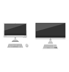 Desktop computer vector